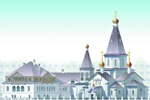 Логотип Церковь блаженной Ксении Петербургской вМедвежьих Озёрах Щелково - Справочник Щелково