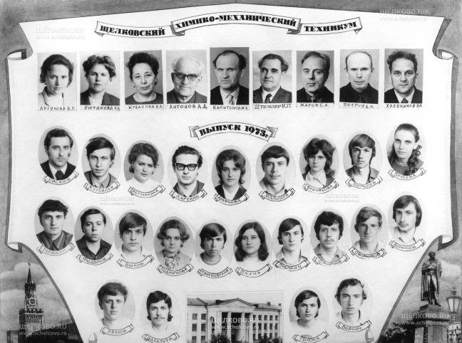 Фото выпуск 1973 года Щелковского химико-механического техникума - Щелково.ru