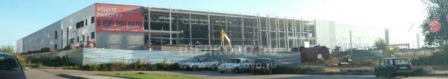 Фото строительство гипермаркета «Гиперглобус» на Гребенской горе в Щелково (вид на стройплощадку со стороны Сбербанка) - Щелково.ru