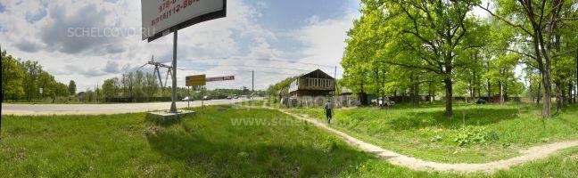 Фото въезд на территорию города Щёлково из Фрязино— садовые кооперативы вдоль ЛЭП— тропинка к улице Садовой г.Фрязино - Щелково.ru