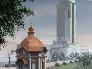 Фото набережной Серафима Саровского города Щелково