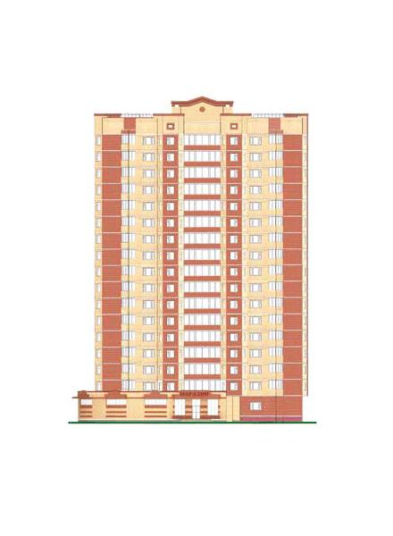 Фото проект 17-этажного жилого дома со встроено-пристроенными помещениями общественного назначения на 1 этаже (г. Щелково, ул. Центральная, д.96) - Щелково.ru