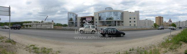 Фото строительство развязки на Гребенской горе города Щёлково (Фряновское шоссе), правее— новый торговый центр «Гранд Плаза» - Щелково.ru