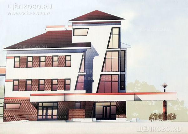 Фото проект бизнес-центра «Карат» в Щелково (площадь Ленина, д. 10) - Щелково.ru