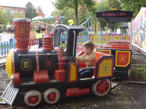 Фото детская железная дорога в парке культуры и отдыха г. Щелково (ул. Строителей) - Щелково.ru