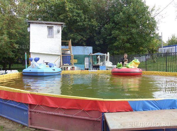 Фото аттракцион на воде в парке культуры и отдыха г. Щелково (ул. Строителей) - Щелково.ru