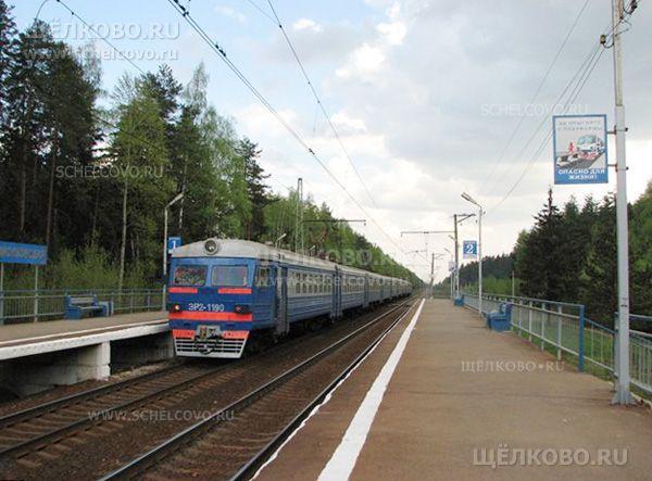 Станция Циолковская Звездный городок. Платформа Циолковская - фото Дениса Михайлова