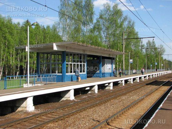 Станция Осеевская Щелковского района. Платформа Осеевская - фото Дениса Михайлова