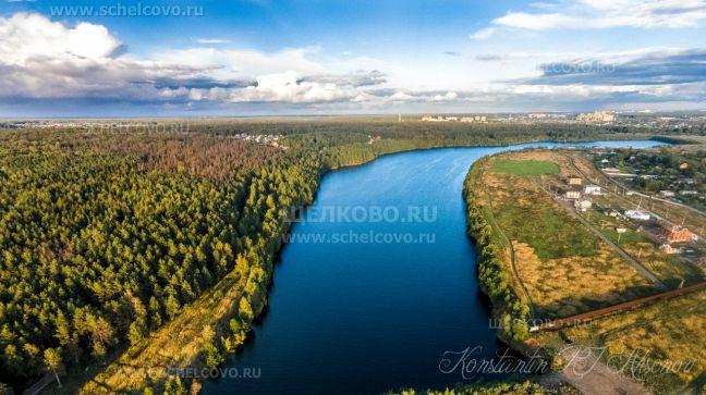 Фото вид на дальний карьер Рудоуправления г. Щелково, справа— улица Кожинская - Щелково.ru