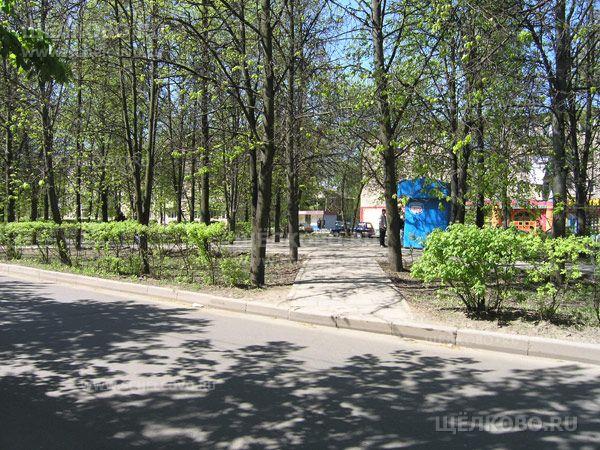 Фото сквер на улице Пушкина в Щелково - Щелково.ru