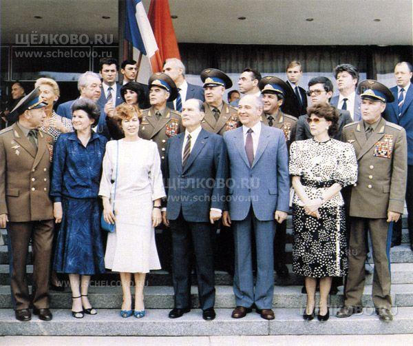 Фото Генеральный секретарь ЦК КПСС М. С. Горбачев и Президент Франции Ф.Миттеран в Звездном городке - Щелково.ru