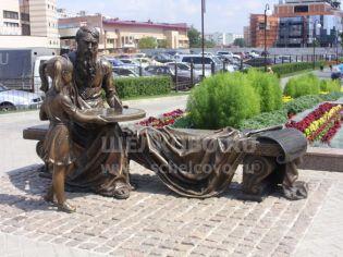 Фото скульптур в парке солнечных часов города Щелково