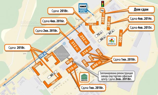 Фото план застройки территории жилого квартала «Солнечная долина» на Фряновском шоссе г. Щелково - Щелково.ru
