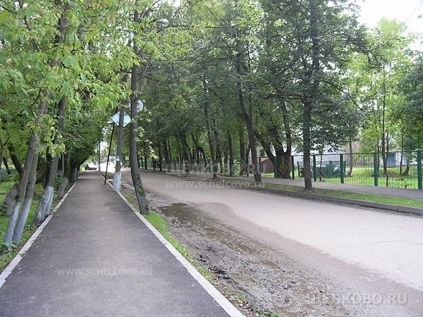 Фото улица Зубеева г. Щелково (вид с улицы Парковая) - Щелково.ru