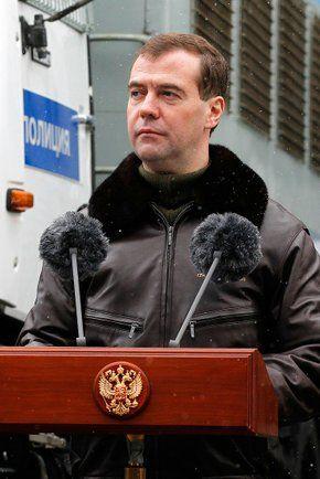 Фото выступление Президента России Д. Медведева на вручении наград сотрудникам отряда ОМОН «Зубр» в Щелково-7 - Щелково.ru