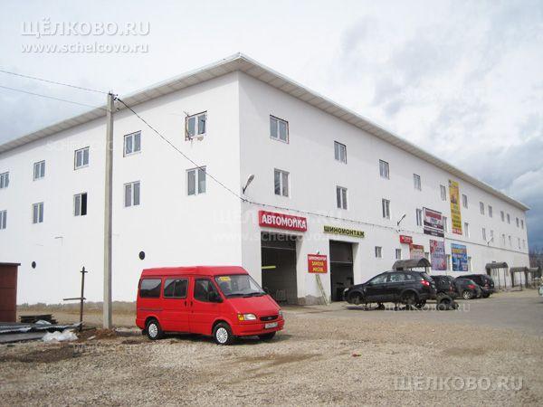 Фото здание автотехцентра и магазина в деревне Огуднево Щелковского района - Щелково.ru