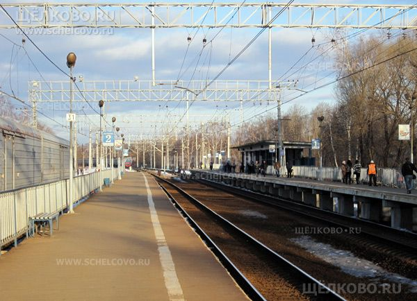 Станция Соколовская Щелково. Платформа Соколовская Щелково - фото Александра Попова