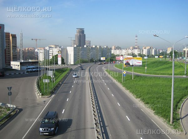 Фото начало Фряновского шоссе г. Щелково (вид с автомобильной эстакады) - Щелково.ru