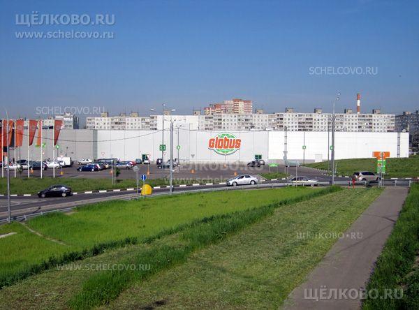 Фото гипермаркет «Глобус» в Щелково (вид с автомобильной эстакады) - Щелково.ru