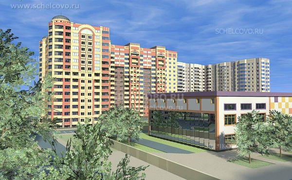 Фото проект застройки микрорайона Жегалово г. Щелково (вид на дом № 27 по ул. Жегаловская) - Щелково.ru