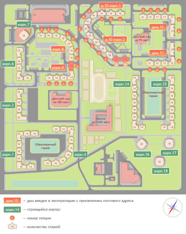 Фото схема застройки микрорайона «Богородский» г. Щелково (по данным на 26.09.2012 г.) - Щелково.ru