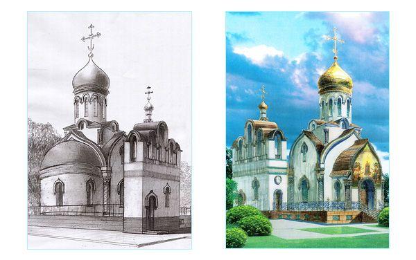 Фото проект храма в честь иконы Божией Матери Неупиваемая Чаша в поселке Литвиново Щелковского района - Щелково.ru