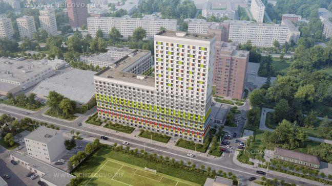 Фото проект 12-25-этажного 4-секционного жилого дома на улице Краснознаменская г. Щелково - Щелково.ru