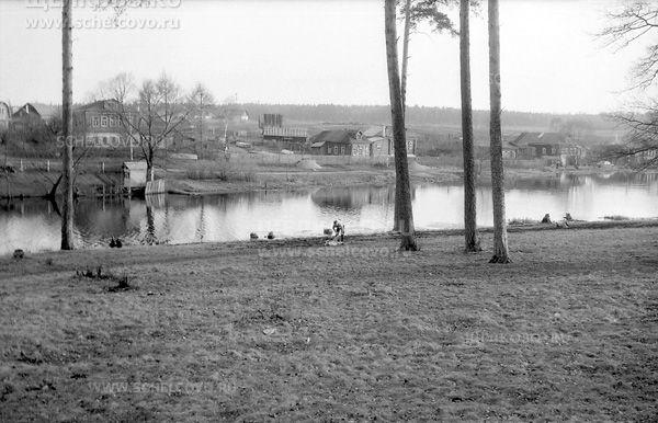 Фото дома деревни Старая Слобода Щелковского района (вид с острова на Барских прудах) - Щелково.ru