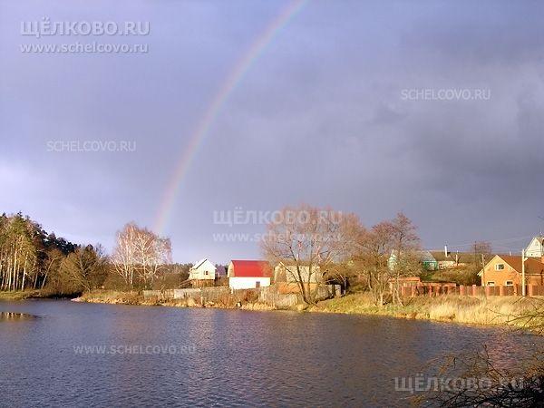 Фото радуга над деревнями Новая Слобода и Старая Слобода Щёлковского района - Щелково.ru