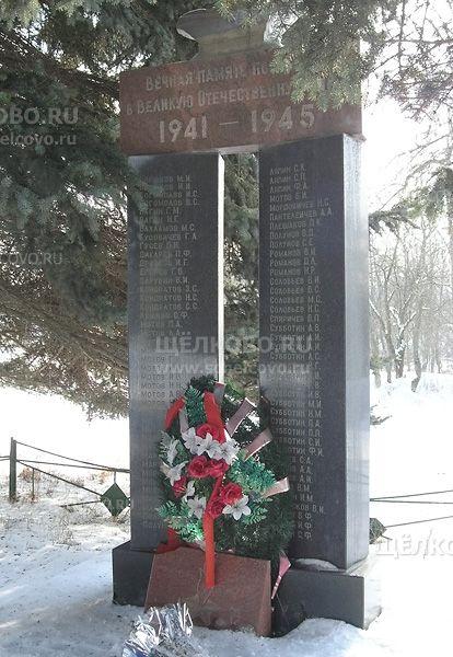 Памятник в Новой Слободе Щелковского района