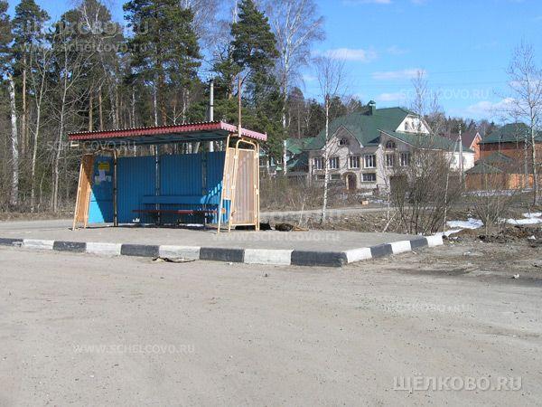 Фото конечная остановка автобуса №23 в деревне Новая Слобода - Щелково.ru