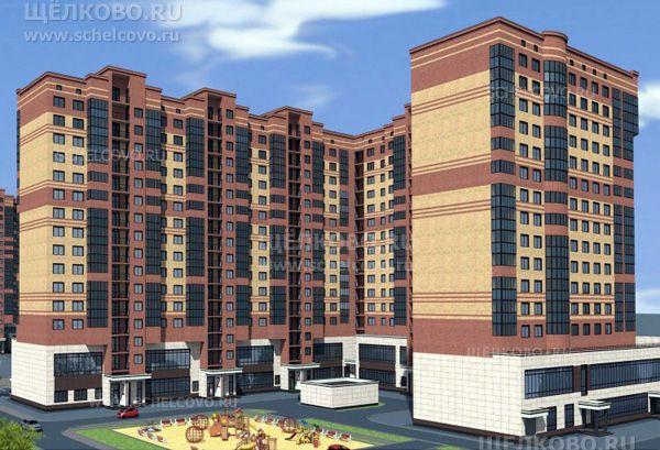 Фото проект 14-этажного жилого дома по улице Центральная г. Щелково (вид со двора, от улицы Кооперативная) - Щелково.ru