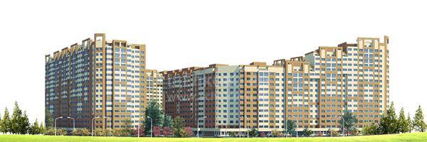 Фото проект жилого комплекса «Потапово» в Щелково (вид с улицы Чкаловская) - Щелково.ru