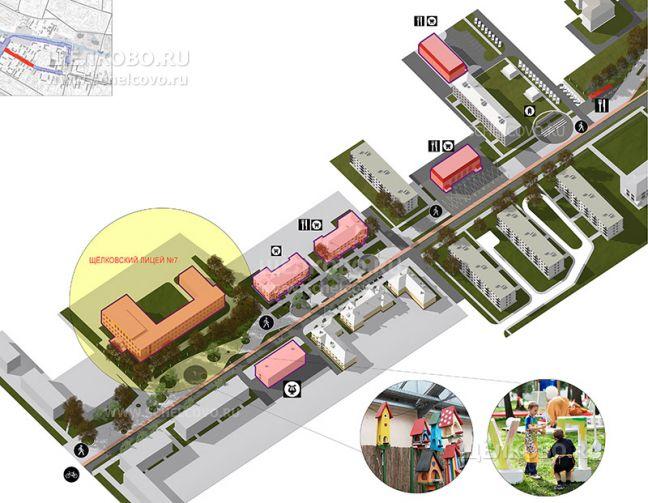 Фото проект реконструкции улицы Парковая в Щелково (общий вид) - Щелково.ru