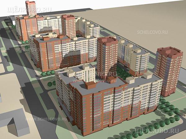 Фото проект жилого комплекса «Центральный» в Щелково: слева— ул.Центральная, внизу— ул.Иванова, справа— ул.Первомайская - Щелково.ru