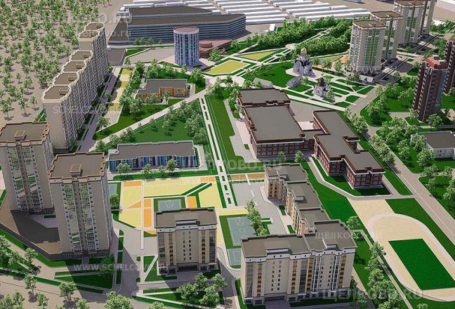 Фото перспектива развития территории вдоль улицы Рудакова (микрорайон Чкаловский г.Щелково) - Щелково.ru