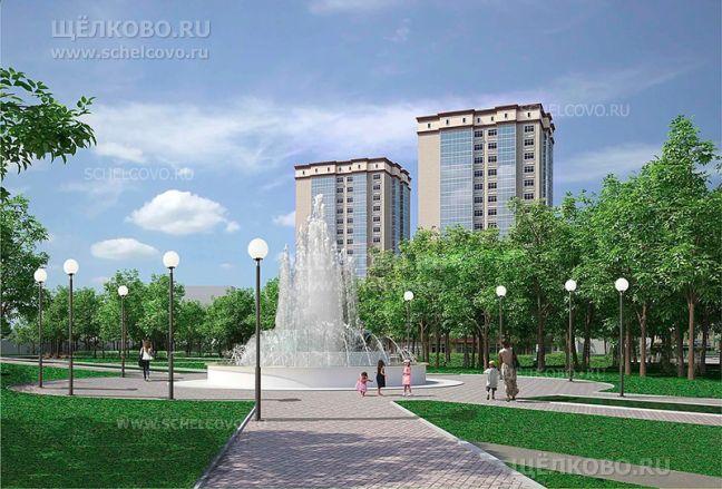 Фото перспектива развития территории микрорайона Чкаловский г.Щелково (сквер между улицами Гагарина и Рудакова) - Щелково.ru