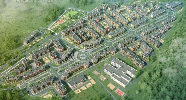 Фото общий вид жилого комплекса «Анискино» - Щелково.ru