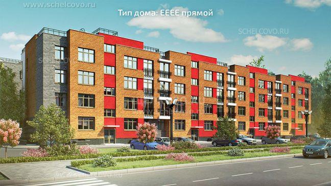 Фото проект дома типа ЕЕЕЕ прямой в жилом комплексе «Анискино» - Щелково.ru
