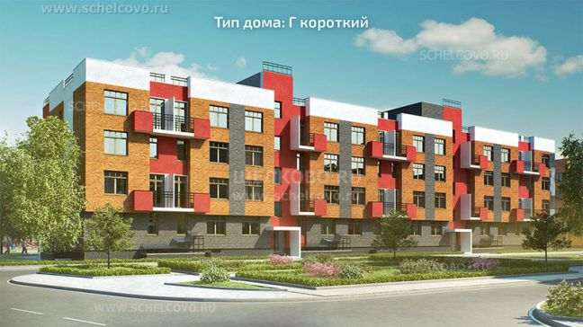 Фото проект дома типа Г короткий в жилом комплексе «Анискино» - Щелково.ru