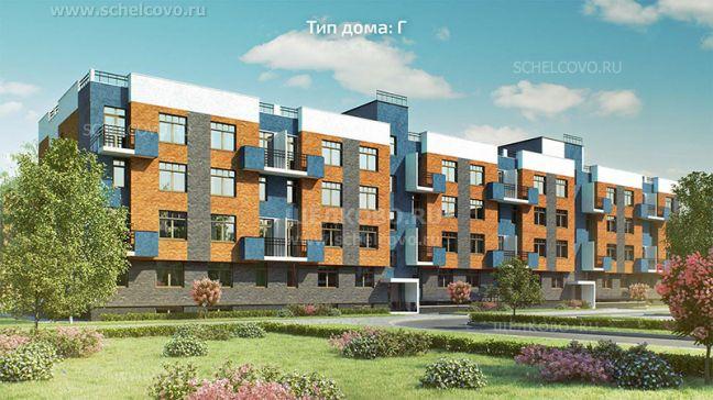 Фото проект дома типа Г в жилом комплексе «Анискино» - Щелково.ru