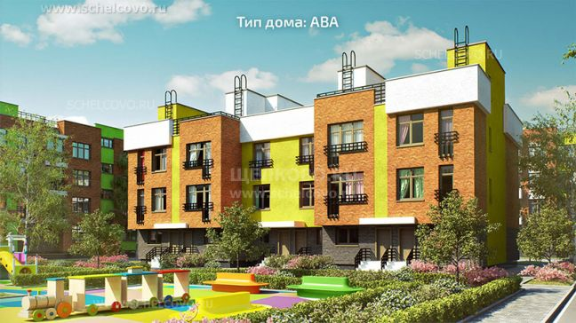 Фото проект дома типа АВА в жилом комплексе «Анискино» - Щелково.ru