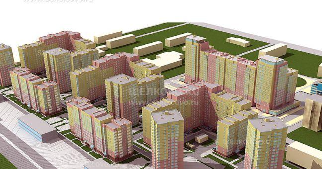 Фото проект жилого комплекса «Центральный» в Щелково (вид от железной дороги) - Щелково.ru