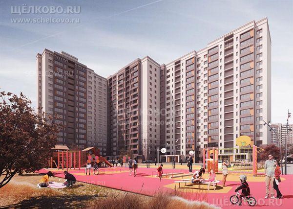 Фото проект нового жилого дома на улице Механизаторов в Щёлково (вид со двора) - Щелково.ru