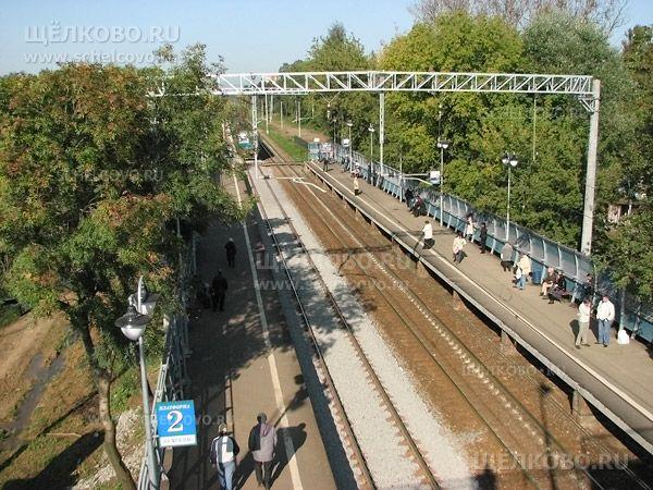 Фото г. Щелково, вид с нового моста станции «Воронок» в сторону Москвы - Щелково.ru