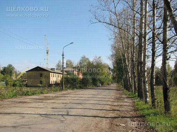 Фото г. Щелково, главная улица посёлка Насосного завода, справа— железнодорожные пути - Щелково.ru