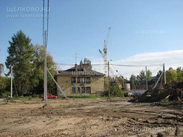 Фото г. Щелково, строительная площадка на территории посёлка Насосного завода (около дома№16) - Щелково.ru
