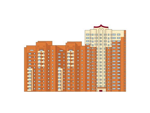 Фото проект жилого дома №17/3 (справа) по ул.Краснознаменская г. Щелково - Щелково.ru