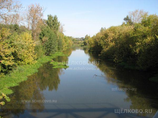 Фото река Клязьма (вид с железнодорожного моста в районе улицы Новая Фабрика г. Щелково) - Щелково.ru