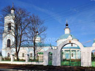 Фото храма Покрова Пресвятой Богородицы в селе Хомутово города Щёлково (ул. Широкая)